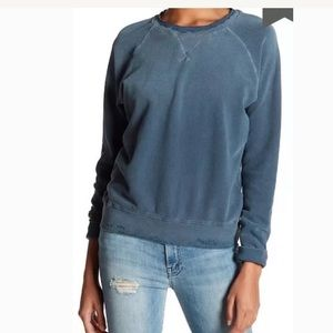 Mother The Square Sweatshirt Small Distressed